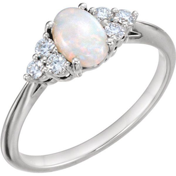 Anillo de compromiso Opal Diamond - Anillos de compromiso en Monterrey