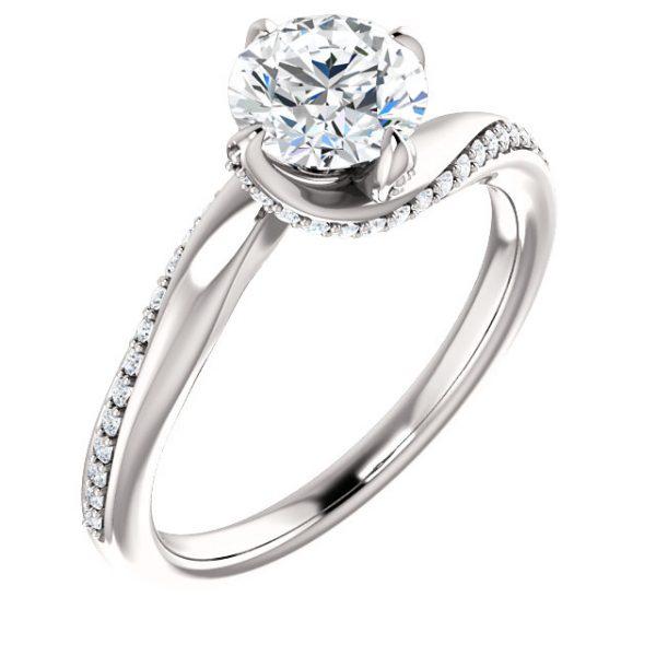 Anillo de compromiso Bypass Rose Full of Stones anillo de compromiso en monterrey
