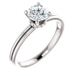 Sutil Accent Diamond Ring- Anillos de compromiso en Monterrey