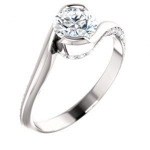 Frontal Bypass Accent Diamond Ring- Anillos de compromiso en Monterrey