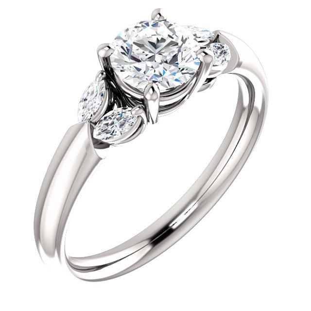 2 Side Marquise Accented Diamond Ring- Anillos de compromiso en Monterrey