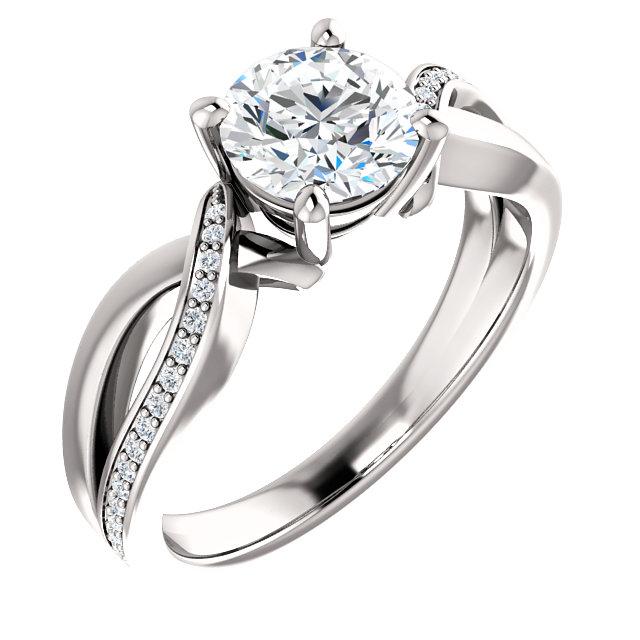 Mid Infinity Accented Diamond Ring- Anillos de compromiso en Monterrey
