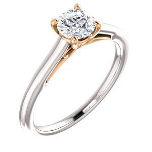 Bow solitaire Diamond Ring- Anillos de compromiso en Monterrey