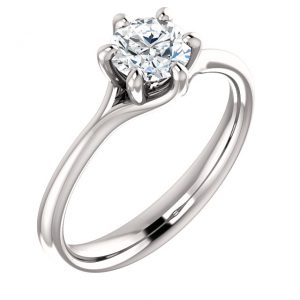 Flower 6 prong Diamond Ring- Anillos de compromiso en Monterrey
