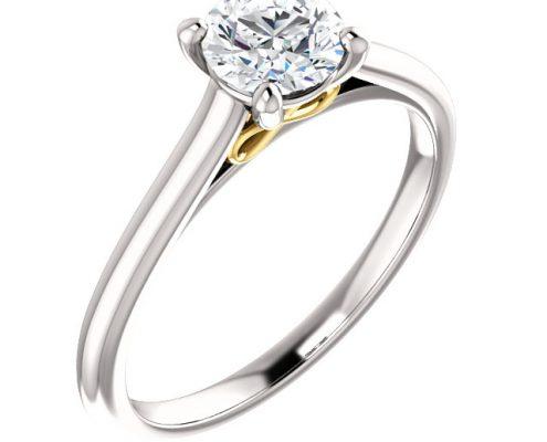 Front Infinity solitaire Diamond Ring- Anillos de compromiso en Monterrey