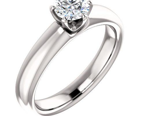 Basic Solitaire Diamond Ring- Anillos de compromiso en Monterrey
