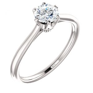 Princess Head Solitaire Diamond Ring- Anillos de compromiso en Monterrey