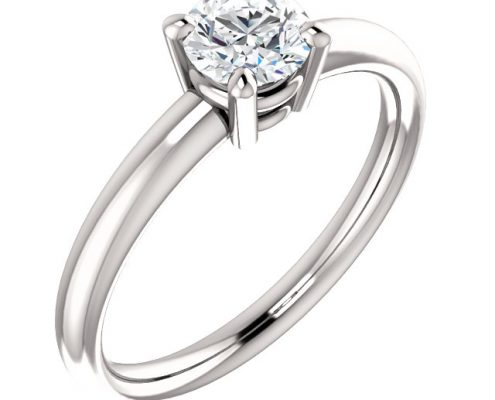 Essential Solitaire Diamond Ring- Anillos de compromiso en Monterrey