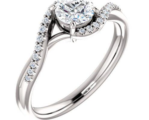 Bypass Accent Diamond Ring- Anillos de compromiso en Monterrey