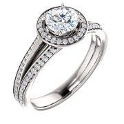 Halo two Side full Diamond Ring- Anillos de compromiso en Monterrey