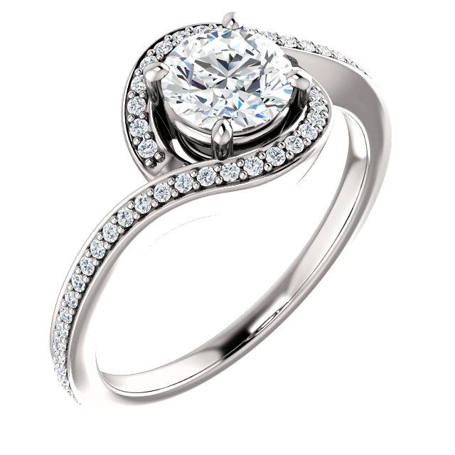 Halo Bypass Diamond Ring- Anillos de compromiso en Monterrey