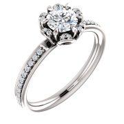 Floral Halo Diamond Ring- Anillos de compromiso en Monterrey