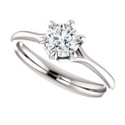 Flower 6 prong Diamond Ring- Anillos de compromiso en Monterrey