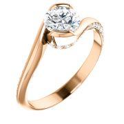 Frontal Bypass Accent Diamond Ring - Anillos de compromiso en Monterrey