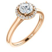Halo Simple Diamond Ring- Anillos de compromiso en Monterrey