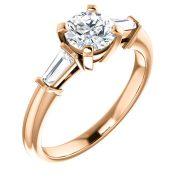 Baguette Accented Diamond Ring- Anillos de compromiso en Monterrey