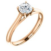 Front Design Solitaire Diamond Ring- Anillos de compromiso en Monterrey