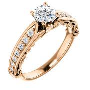 Estructural Vintage Accented Diamond Ring- Anillos de compromiso en Monterrey