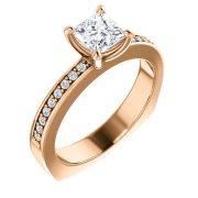 Shaped Accented Diamond Ring- Anillos de compromiso en Monterrey