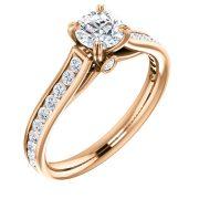 Estructural Front and side Accented Diamond Ring- Anillos de compromiso en Monterrey