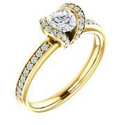 Halo Side Diamond Ring- Anillos de compromiso en Monterrey