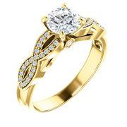 Infinity Accent Diamond Ring- Anillos de compromiso en Monterrey