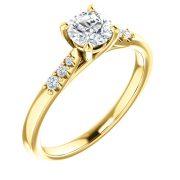 Side Accented Diamond Ring- Anillos de compromiso en Monterrey