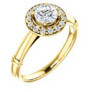 Halo Detail Diamond Ring- Anillos de compromiso en Monterrey