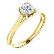 Front Design Solitaire Diamond Ring - Anillos de compromiso en Monterrey